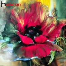 Huacan 5d Full Drill Square Diamond Painting Flower Pictures Of Rhinestones Diamond Embroidery Needlework Diamond Art Needlework
