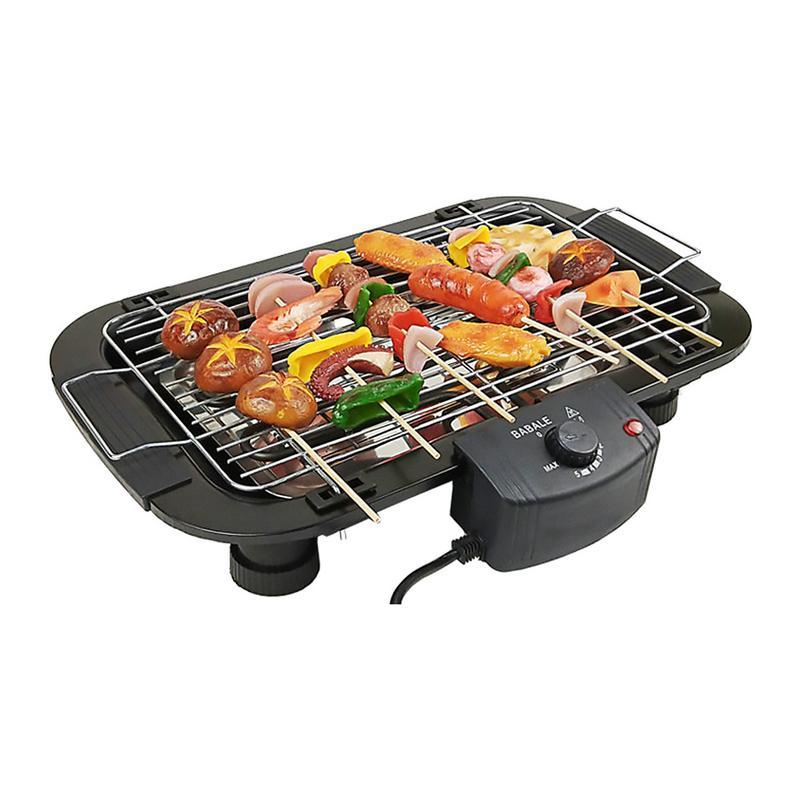 Multifonction électrique sans fumée gril plaque de cuisson casserole intérieure BBQ cuisine numérique contrôle de température ventilateur sans fumée griller
