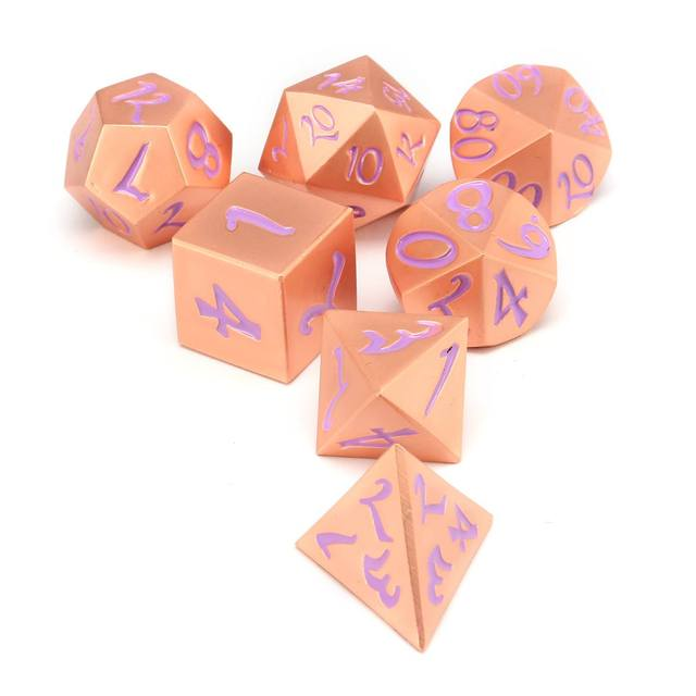 7 pcs Liga de Zinco Dados Poliédricos Definir Garoto Dados Digitais de Aprendizagem de Matemática Brinquedos Jogo De Mesa Para Dungeons Dragons Role Playing RPG Dices