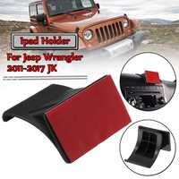 Suporte Suporte Ajustável Para Jeep carro Para O Ipad Para 2011-2017 Wrangler JK 7-12.9 ''Telefone Tablet PC ABS Dashboard Montar Titular