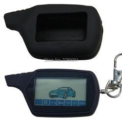 A91 LCD Afstandsbediening 2 Manier Auto Alarm Sleutel + Siliconen Case Voor Starline 91 Starline A91 Fob Sleutelhanger Body remote