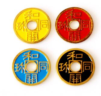 Expanded Chinese Shell + Coin (Four Color Available) Magic Tricks Close Up Prop Accessories Illusion Appear Disappear Coin Magie