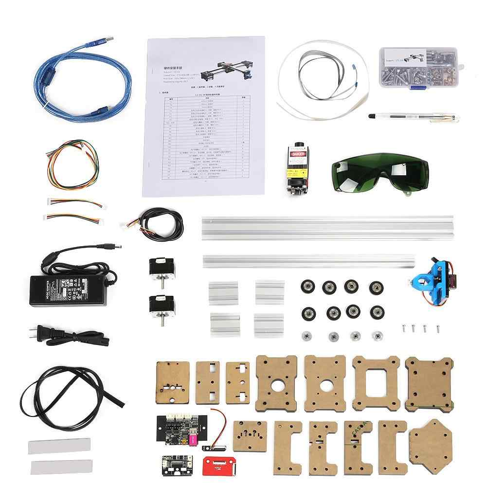 AC 100-240 V 2 แกน DIY CNC XY Plotter ปากกาเครื่องวาดหุ่นยนต์เลเซอร์ 2.5 W CN /EU/US/UK/AU Plug