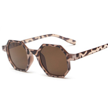 XojoX Small Sunglasses Women Vintage Polygon Black Pink Red Sun Glasses Fashoin