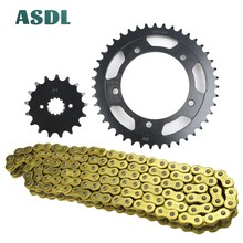 цена на 520 17T 43T 1045 steel Motorcycle Transmission Chain and front rear sprocket set for SUZUKI GSX-R750 GSX-R 750 Moto GP 2011-2018