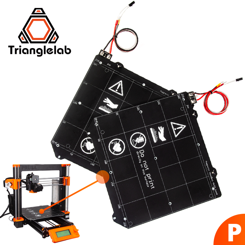 TriangleLAB 24V PRUSA i3 MK3 MK3S up to 130°C continuous Heated Bed spring steel plate Suggested pur