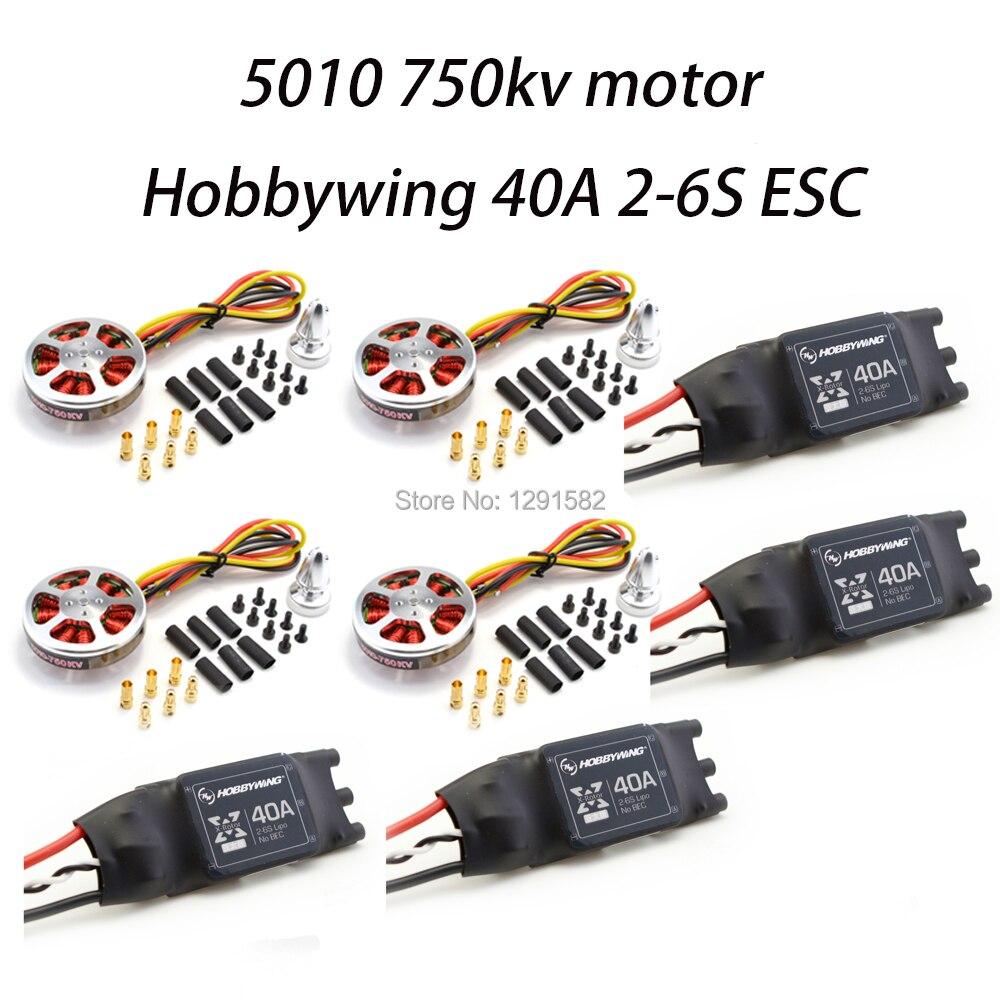 5010 360kv KV360/5010 750kv moteur sans brosse et Hobbywing Xrotor 40A ESC OPTO 2-6 S pour ZD550 ZD850 quadrirotor Multicopter5010 360kv KV360/5010 750kv moteur sans brosse et Hobbywing Xrotor 40A ESC OPTO 2-6 S pour ZD550 ZD850 quadrirotor Multicopter
