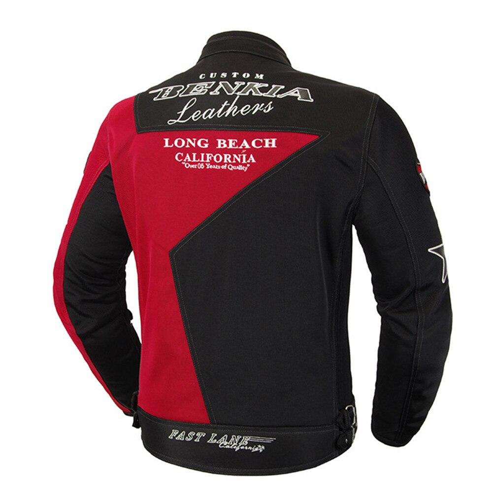 BENKIA JS92 veste de Moto équitation costume de Moto Protection armure corporelle vêtements réfléchissants manteau homme vêtements protecteur hommes vestes - 2
