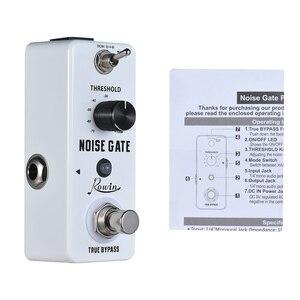 Image 5 - Rowin Noise Gate Chitarra Effetti A Pedale di Riduzione Del Rumore Chitarra Pedale 2 Modalità di Lega di Alluminio Borsette True Bypass Chitarra Accessori