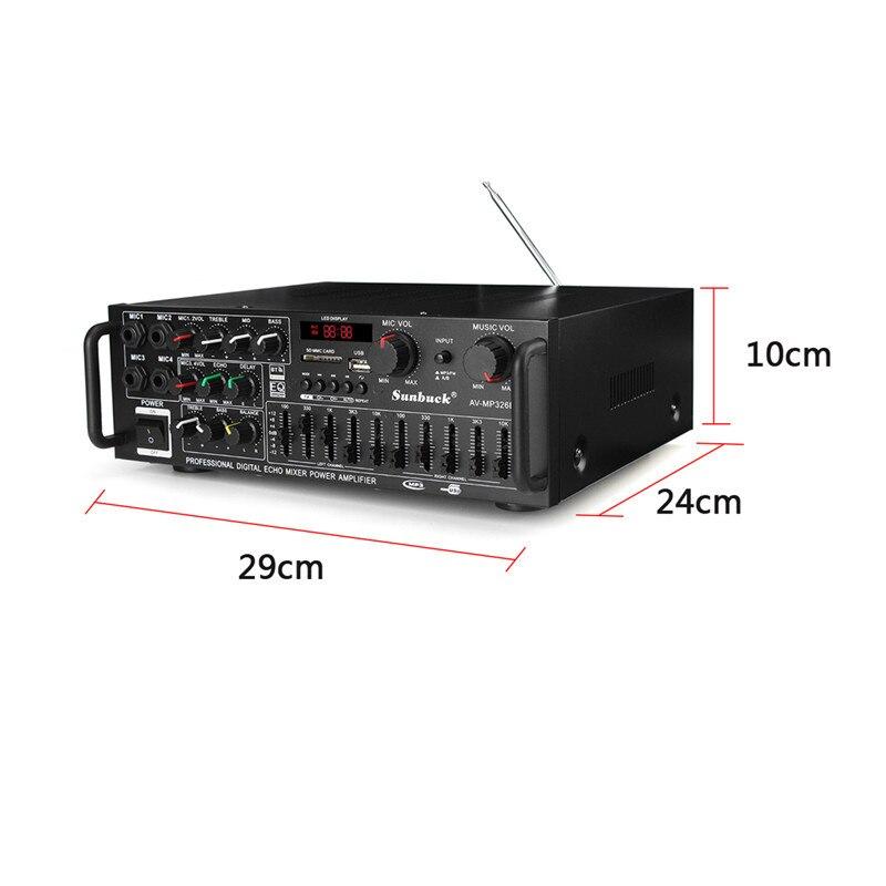 EQ 2000 w 4 ohm 2CH bluetooth Estéreo auriculares bluetooth Digital amplificador de potencia USB 64 GB casa teatro amplificadores - 2
