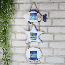 Mediterranean Photo Wall Decoration Frames Ocean Home Decor Wooden Family Hanging Ornament