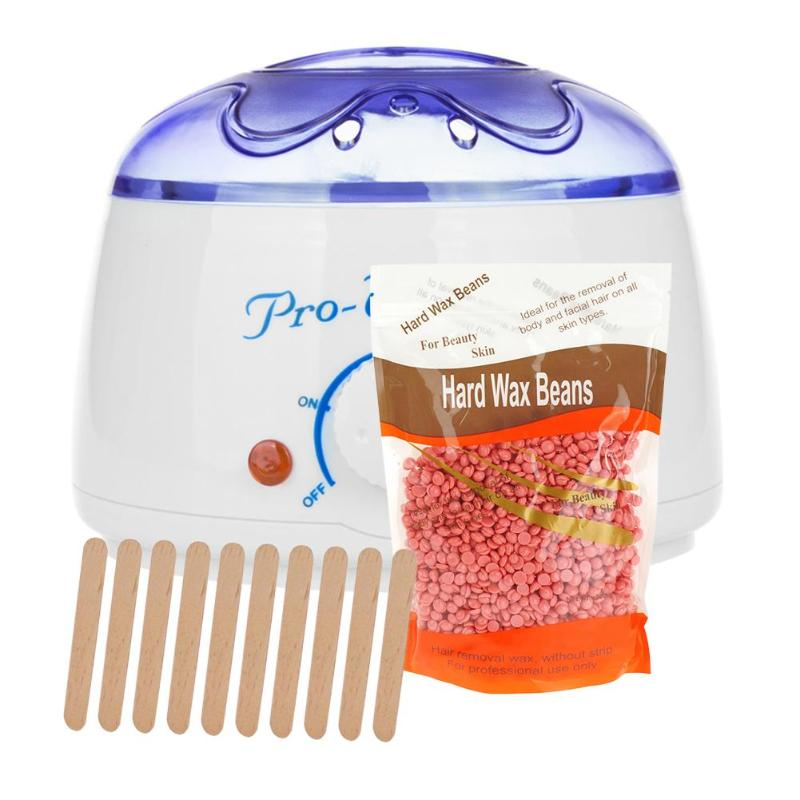 200cc 500cc Hand Wax Machine Hot Paraffin Wax Warmer Heater Body Depilatory Salon SPA Hair Removal Tool With Wax(China)