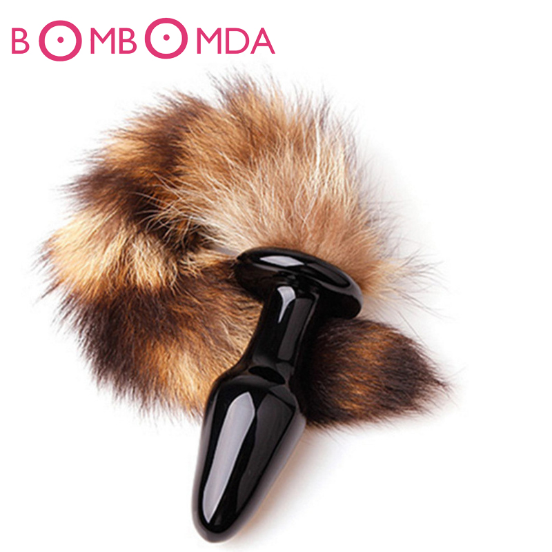 New <font><b>Anal</b></font> Plug Fox Tail Butt Plug <font><b>Dildo</b></font> <font><b>Anal</b></font> <font><b>Sex</b></font> Toys Adult Products Prostate Massage For Female Male Random Color O3 image