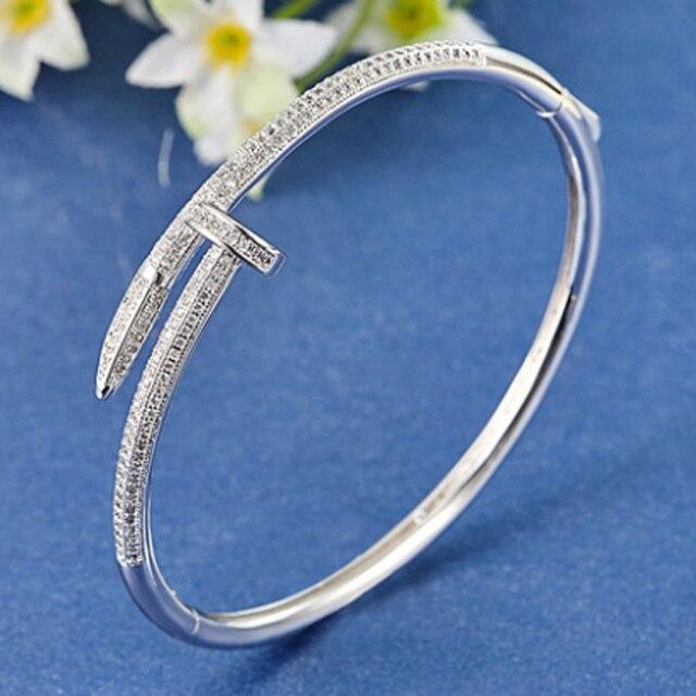 38d3e163d1f5 De las mujeres de la moda brazaletes de boda y pulsera de moda brazaletes  de circonio