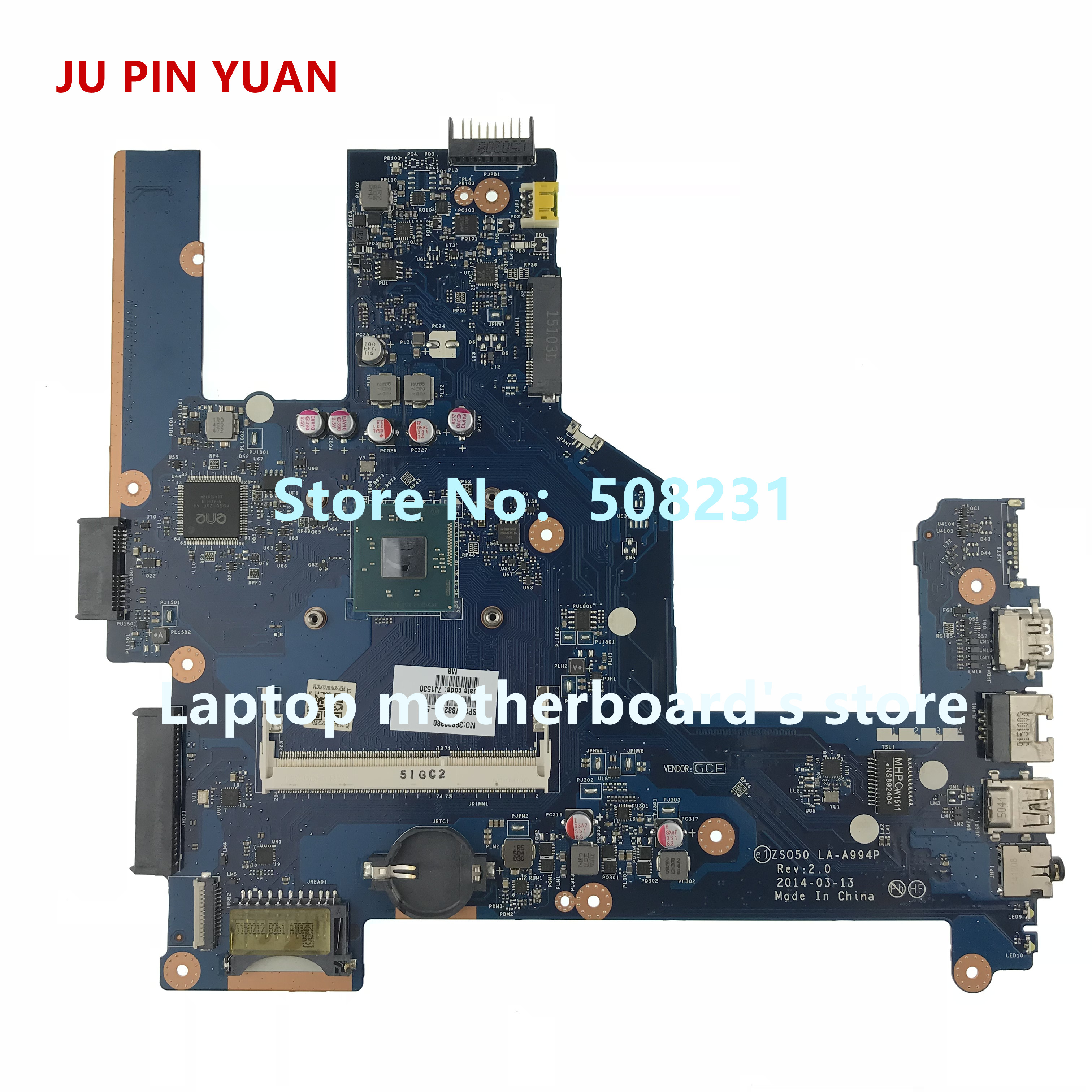 JU PIN YUAN 788289-501 788289-001 ZSO50 LA-A994P Laptop Motherboard  For HP 250 G3 15-R 15T-R NOTEBOOK PC fully Tested caterham 7 csr