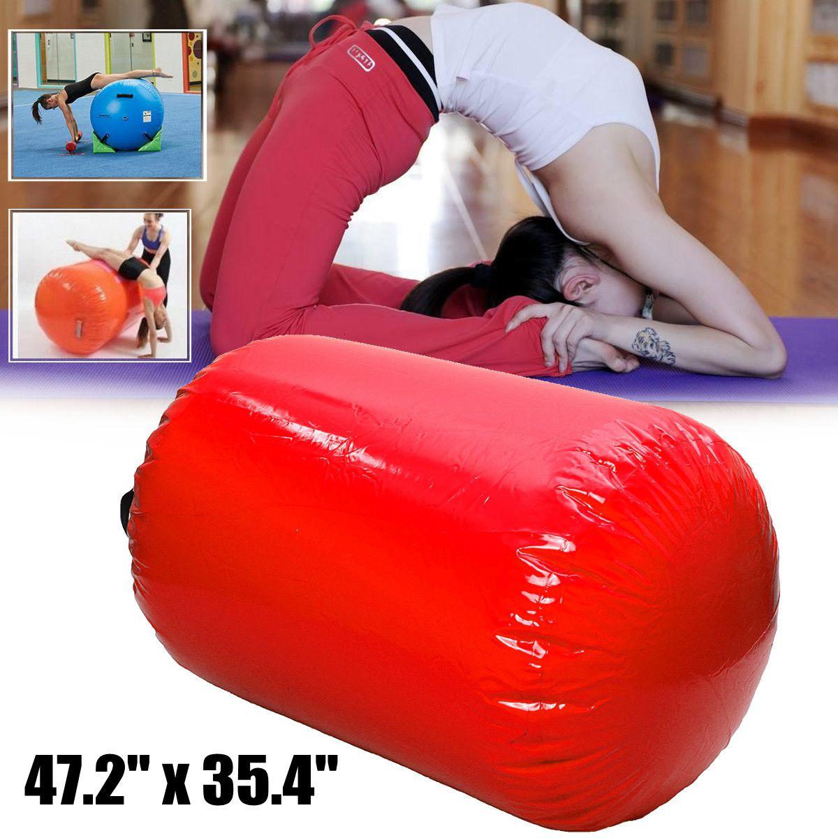 JIAINF 100x65/120x90 cm Air piste cylindre gymnastique exercice gonflable Tumbling piste pour enfants entraînement Gym inversé Backflip