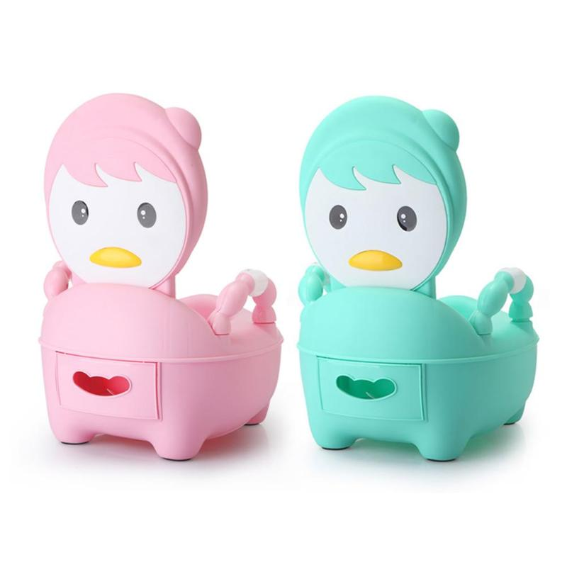 Cartoon Cute Baby Potty Toilet Bowl Training Pan Toilet Seat Kids Bedpan Comfortable Backrest Cartoon Cute Pot Children's Pot