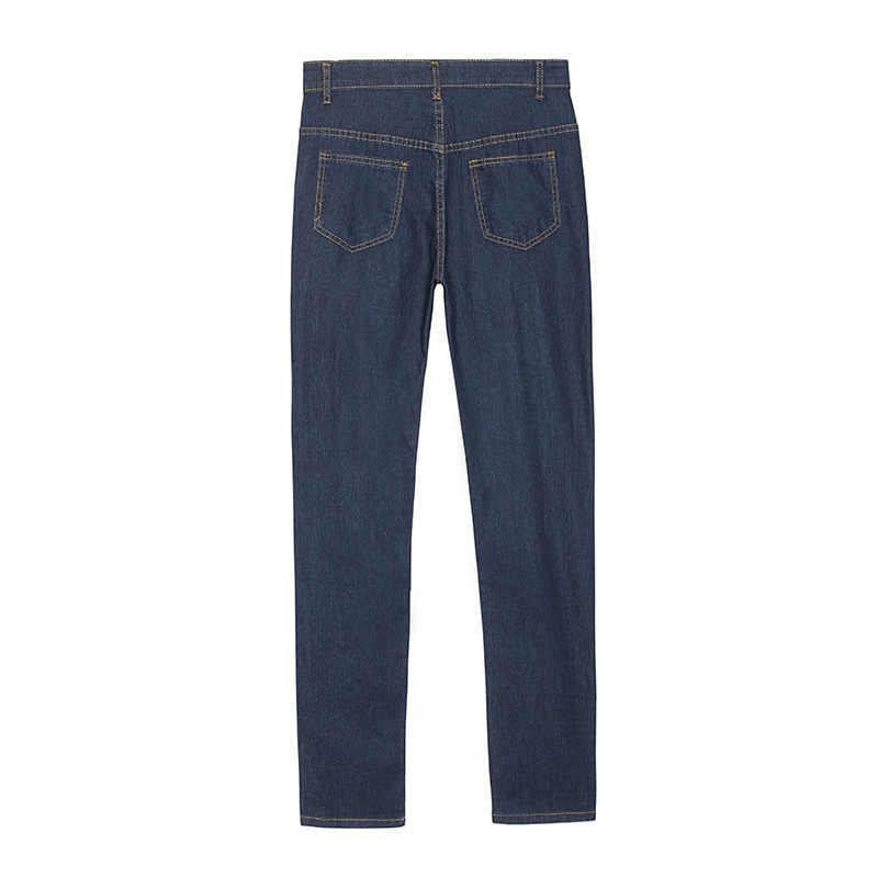 Женские джинсы с рваной талией, женские модные крутые джинсы с дырками и цепочкой, джинсовые штаны, женские брюки бойфренда, большие размеры, O8R2