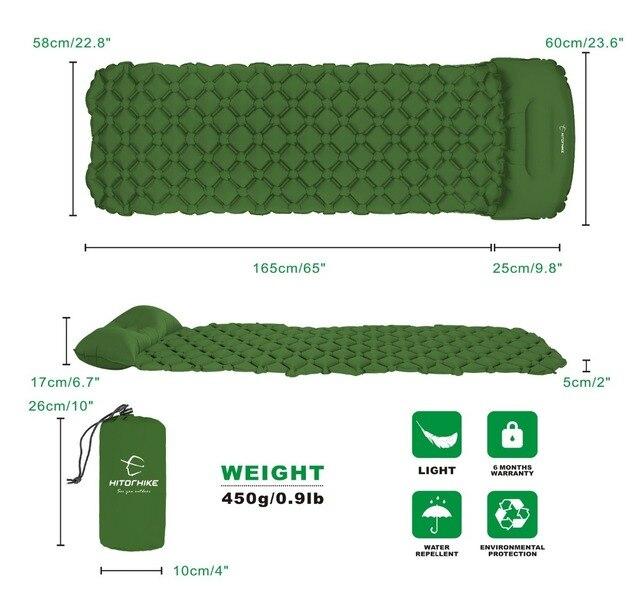 picnic mat air bed Sleeping Pad Camping Mat With Pillow air  5