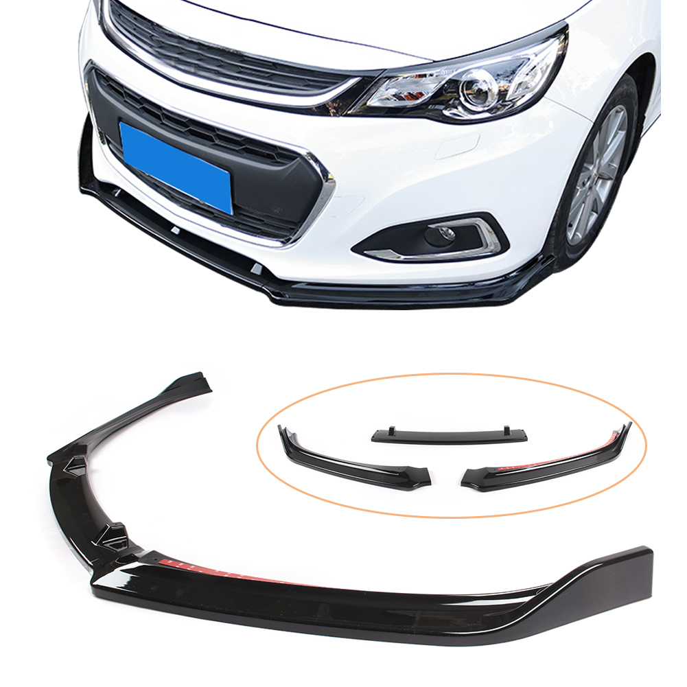 Malibu 2018 Front Bumper Lip Spoiler For Chevrolet Malibu 2012 2013 2014 2015 2016 2017 2018 3pcs Auto Car Abs Plastic Parts Aliexpress