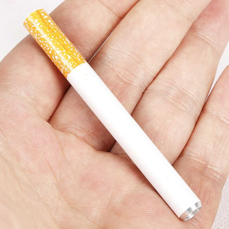 بيع 1 قطعة جديد 2018 السجائر شكل الأنابيب المعدنية التدخين الاكسسوارات أنابيب التبغ مرشح الأنابيب الأنابيب المحمولة