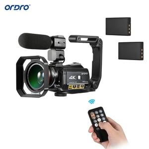 Image 2 - Ordro câmera de vídeo ac3 4k, wi fi, câmera camcorder, 24mp, 3.1, Polegada ips, 0.39x, ângulo aberto, lentes + microfone + capuz + suporte da câmera das lentes