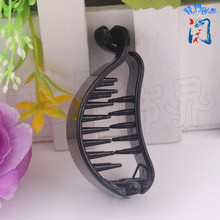 DIY Ornaments Parts 6.77 * 26cm Black Plastic Hairpin Banana Mix Ponytail Bud Head Fish Tail