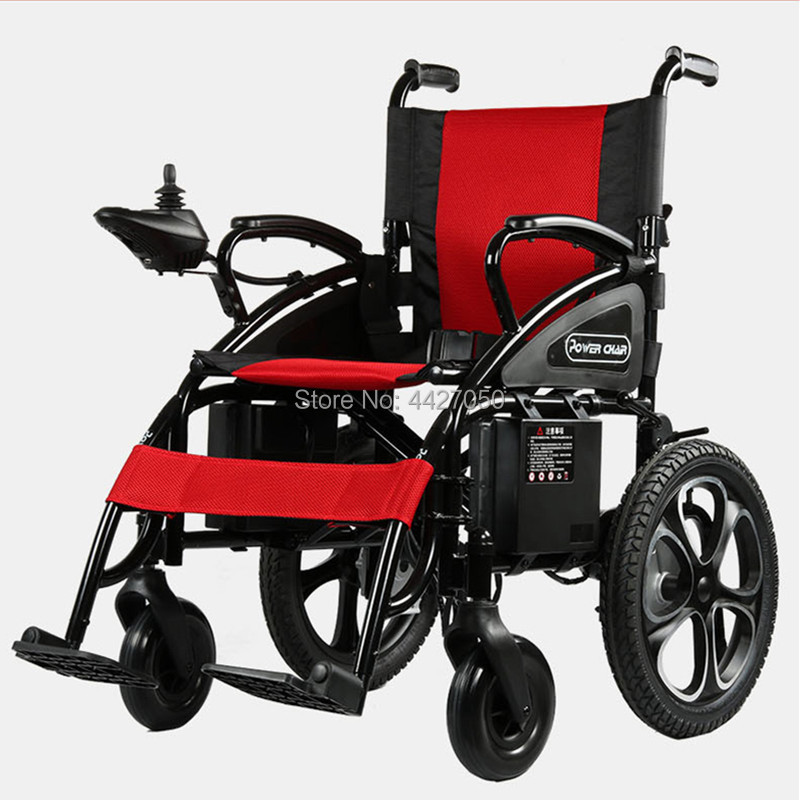 2019 Free shippping Strong capacity folding electric font b wheelchair b font for font b disabled