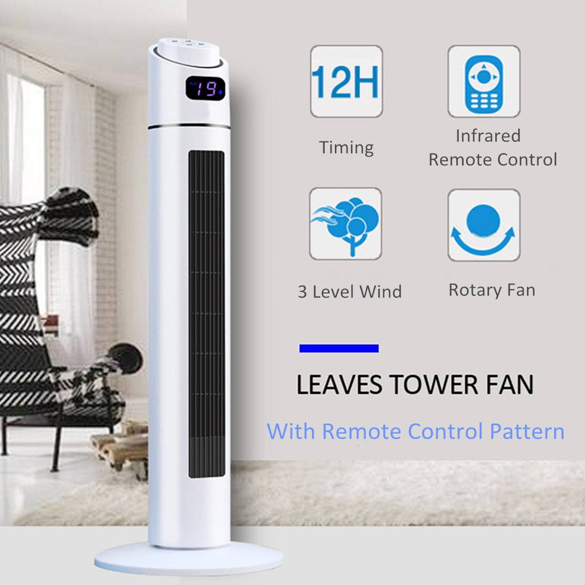 Refroidisseur d'air Portable ABS étage muet ventilateur sans lame refroidisseur d'air maison refroidissement climatiseur humidificateur été télécommande ventilateur 220 V