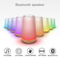 Smart Led Bluetooth Speaker Stereo Subwoofer Hands free Colorful Control Night Light Table Lamp Sleeping Aid For Phone Computer