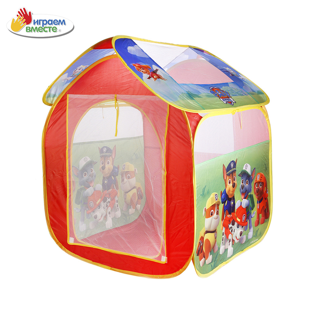 Палатка детская игровая ИГРАЕМ ВМЕСТЕ Щенячий патруль, 83*80*105см, в сумке , доставка от 2-х дней