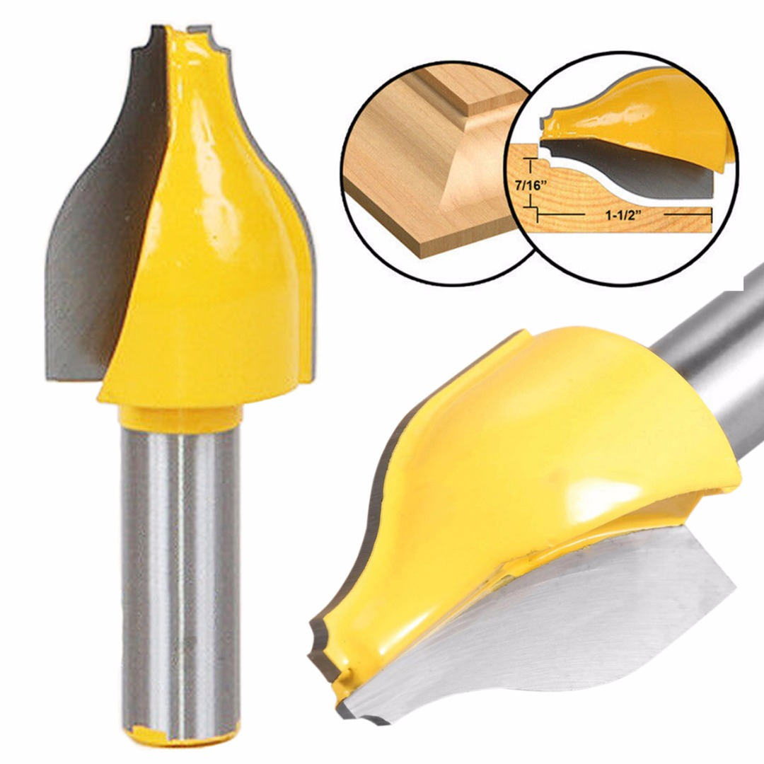 """1pc 1/2"""" Shank Vertical Raised Panel Router Bit Woodworking Cutter Woodwork Tool"""