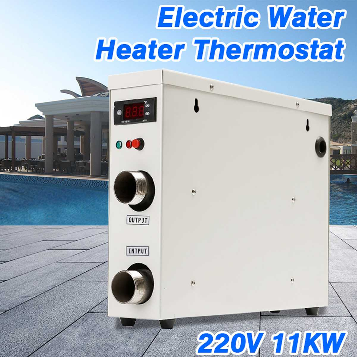 11KW 220V AC Electric Digital Water Heater Thermostat For Swimming Pool SPA Hot Tub Bath Water Heating цена