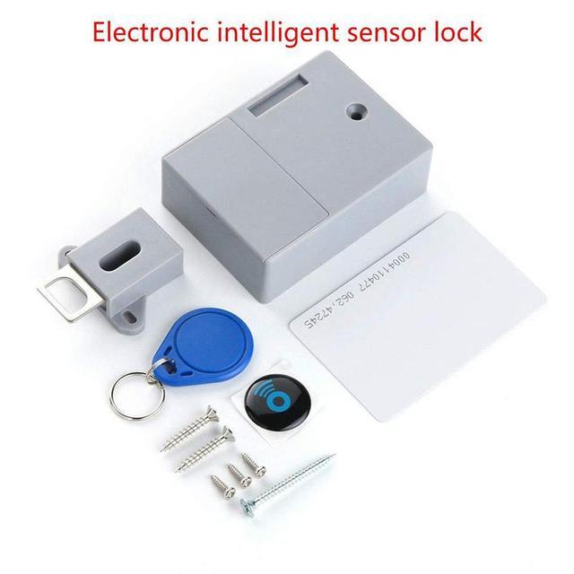 Ни один умный электрический индукционный дверной фиксированный аккумулятор управляемый rfid-замок для шкафчиков мебельный замок ящика с rfid-...