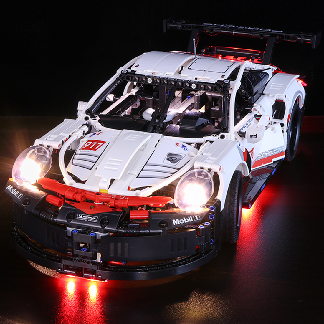 LED Light Building Block Brick Kit For Porsche 911RSR Automobile Race Car 42096 Children Birthday Gift