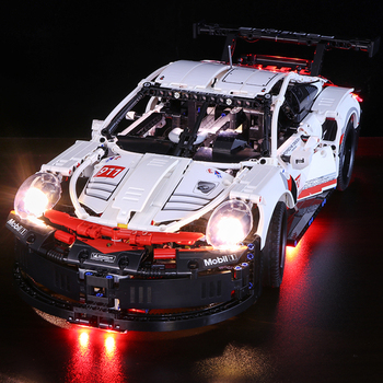 LED Light Building Block Brick Kit For 911RSR Automobile Race Car 42096 Children Birthday Gift (LED Light Only)