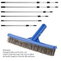 Cepillo profesional de acero inoxidable para piscina, brocha para polvos, inferior, juego de herramientas de limpieza, 10 pulgadas