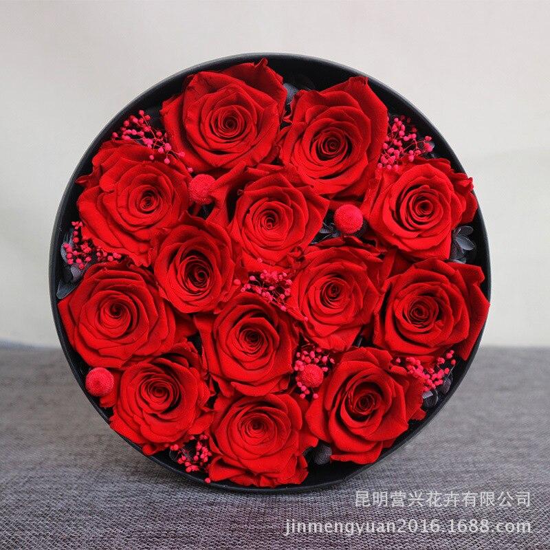 Boîte cadeau fleur immortelle conservation créative fleur Rose boîte ronde Tanabata saint valentin noël cadeau fête des mères