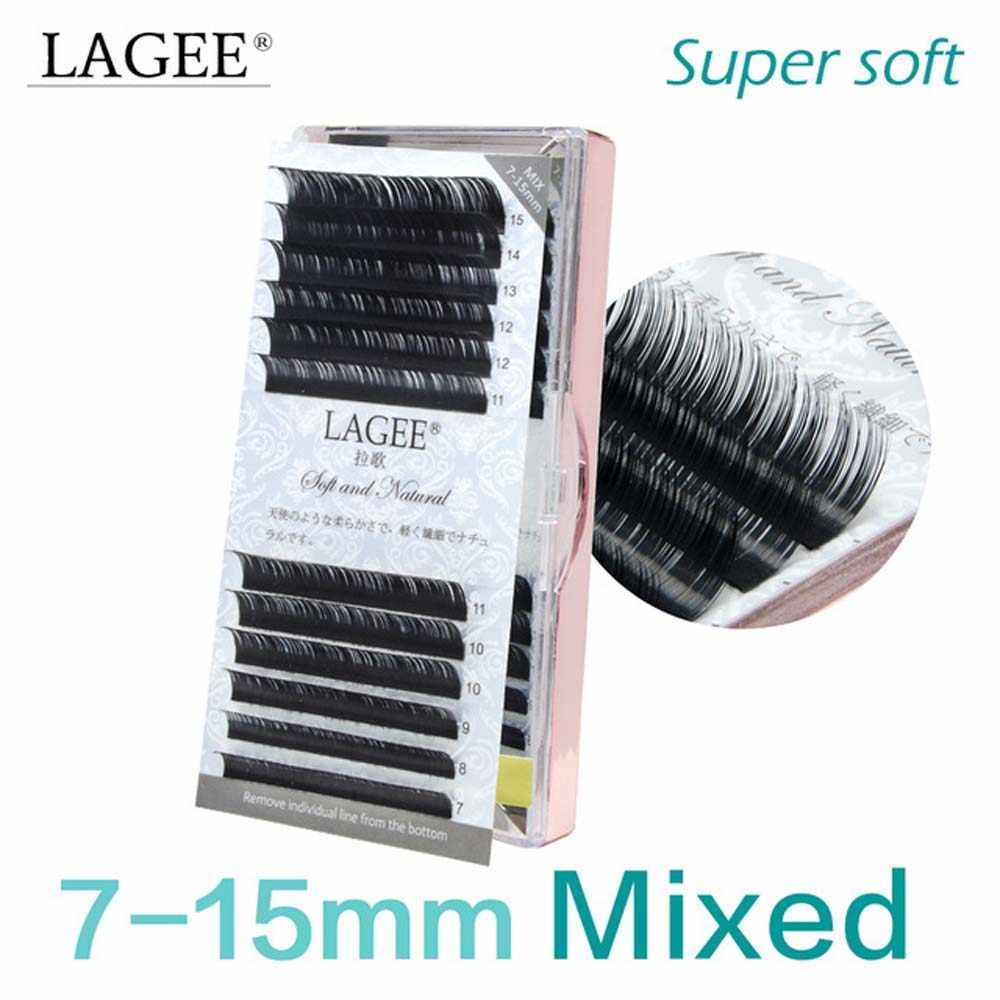 8d796bac942 LAGEE J B C CC Curl natural individual eyelash extension 7-15 mm mixed tray  premium Glossy