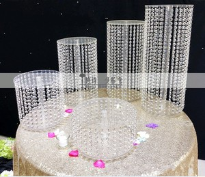 Sparkling Crystal clear garland chandelier wedding cake stand birthday party supplies decorations for table top centerpieces|Cake Decorating Supplies| |  -
