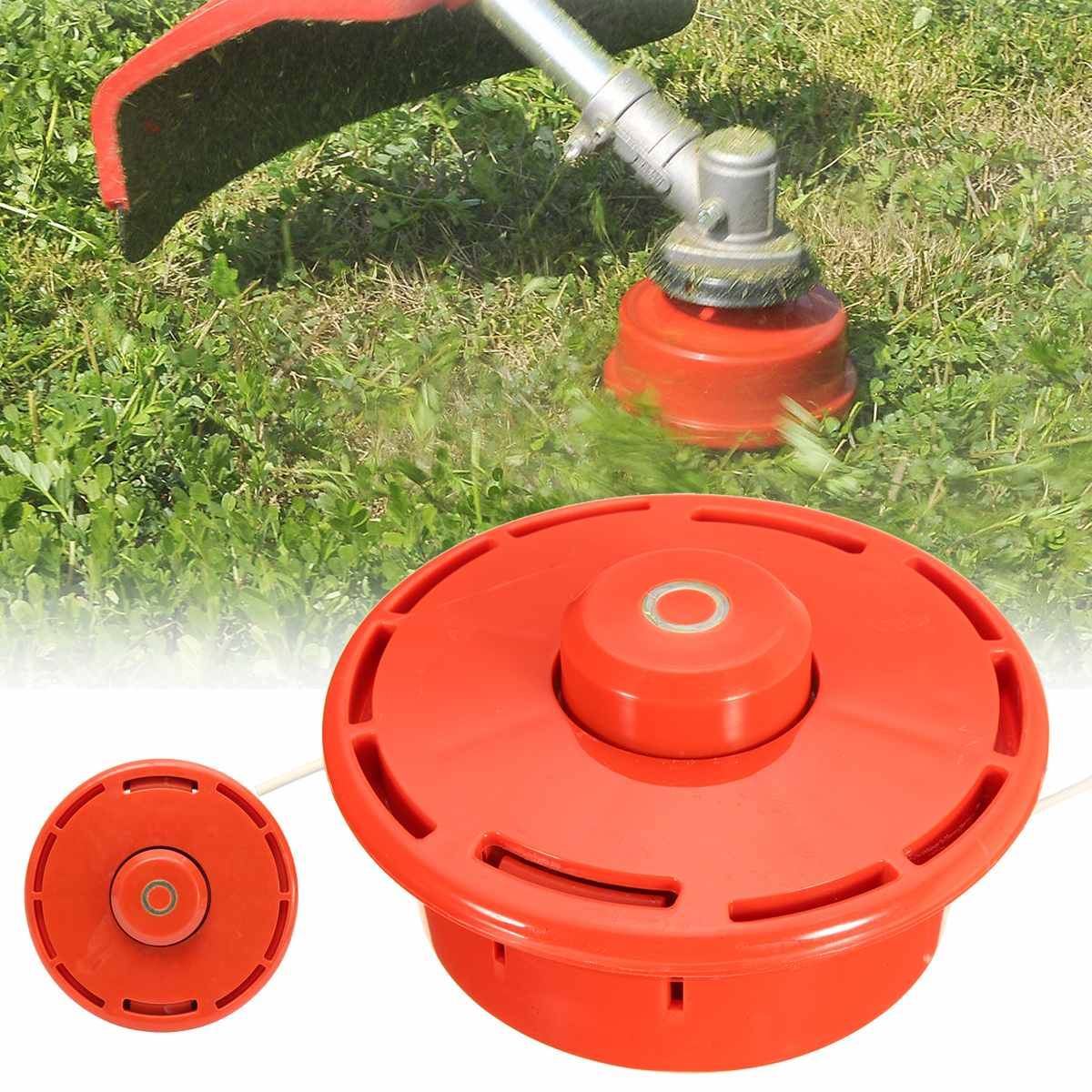 Universal Strimmer Bump Feed Line Spool Brush Cutter Grass Replacement Trimmer Head Hardened Plastic Grass Trimmer Head plastic