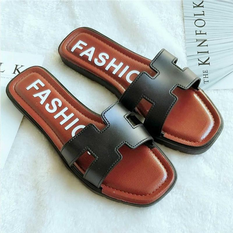 New Women Flat Casual H Letter Outdoor Sandals Ladies Fashion Beach Non-Slip Slippers Summer Slides #927 цена 2017