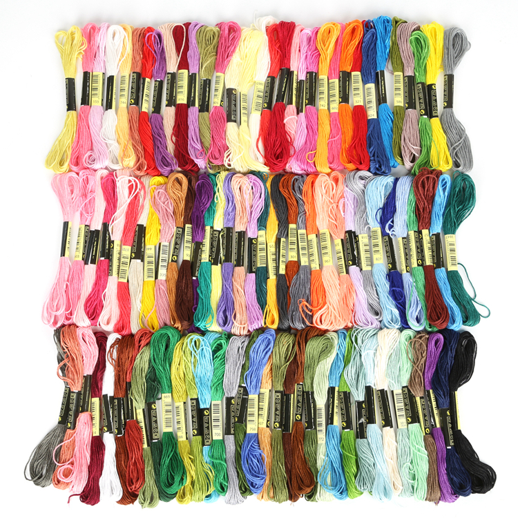 100pcs/bag Mixed Color  7.5m Cross Threads Cross Stitch Cotton Embroidery DIY Craft Material Supplies Decor Thread Line 2