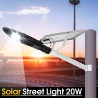 Mising 20W Solar LED Street Light Lamp With Pole Solar Powered Light Control IP65 Waterproof for Outdoor Road Wall Night Lamp