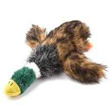 1pc Dog Toys Squeak Chew Sound Toy Fleece Durability Plush Duck Shape Pet For Dogs Cat Pets Products Teddy Chihuahua