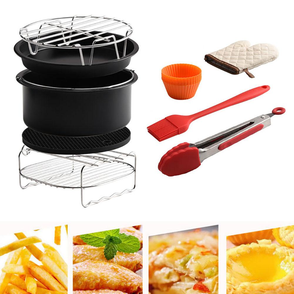 9 pièces/ensemble 4.2-5.8QT friteuse à Air accessoires puce cuisson panier grille grille Pizza Pan cuisine outils ensembles accessoires de jardin