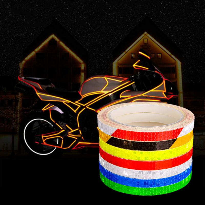 Reflective Stickers Bicycle Bike Reflector Security Wheel Rim Decal Tape 8 PCS