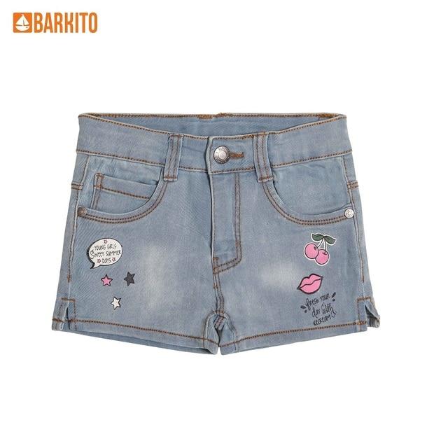Шорты для девочки джинсовые Barkito, синие