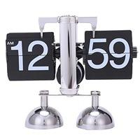Botique Vintage Retro Flip Clock Scale Modern Digital Auto Page Turning Dual Stand Flip Clocks Home Decor Desk Table Quartz Cl