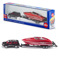 SIKU 2543/Diecast Metal Model/1:50 Scale/Toyota Land Cruiser and Speedboat/Educational Toy Car/Gift For Children/Collection